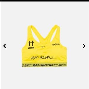 Nike off white sports bra